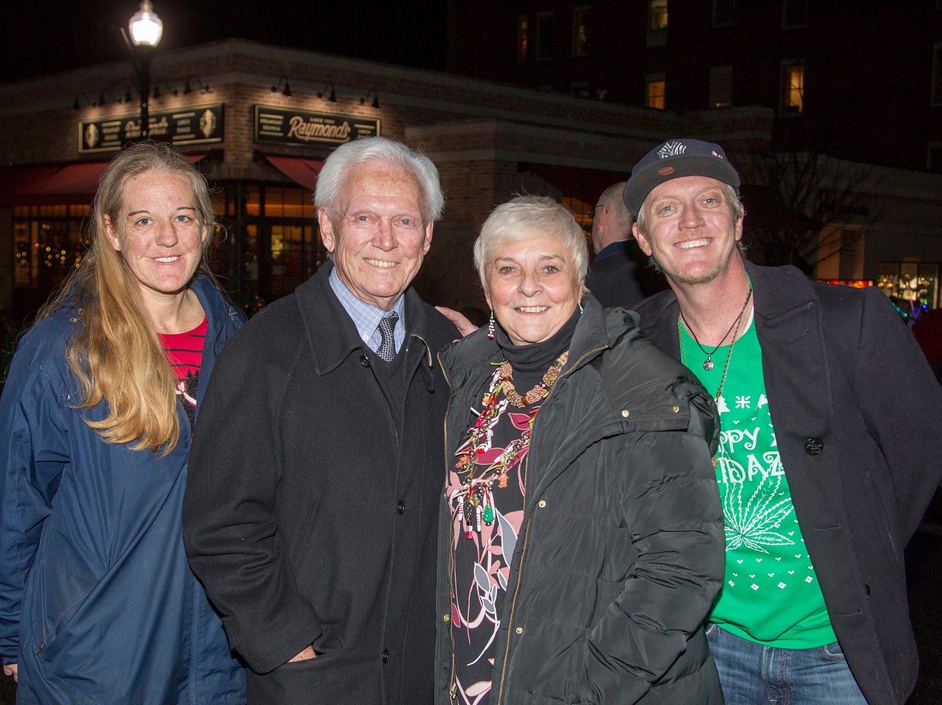 Sarah, Tom, Spencer, Pat Hanly. Ridgewood Chamber held its 33rd annual Downtown For The Holidays. 11/30/2018