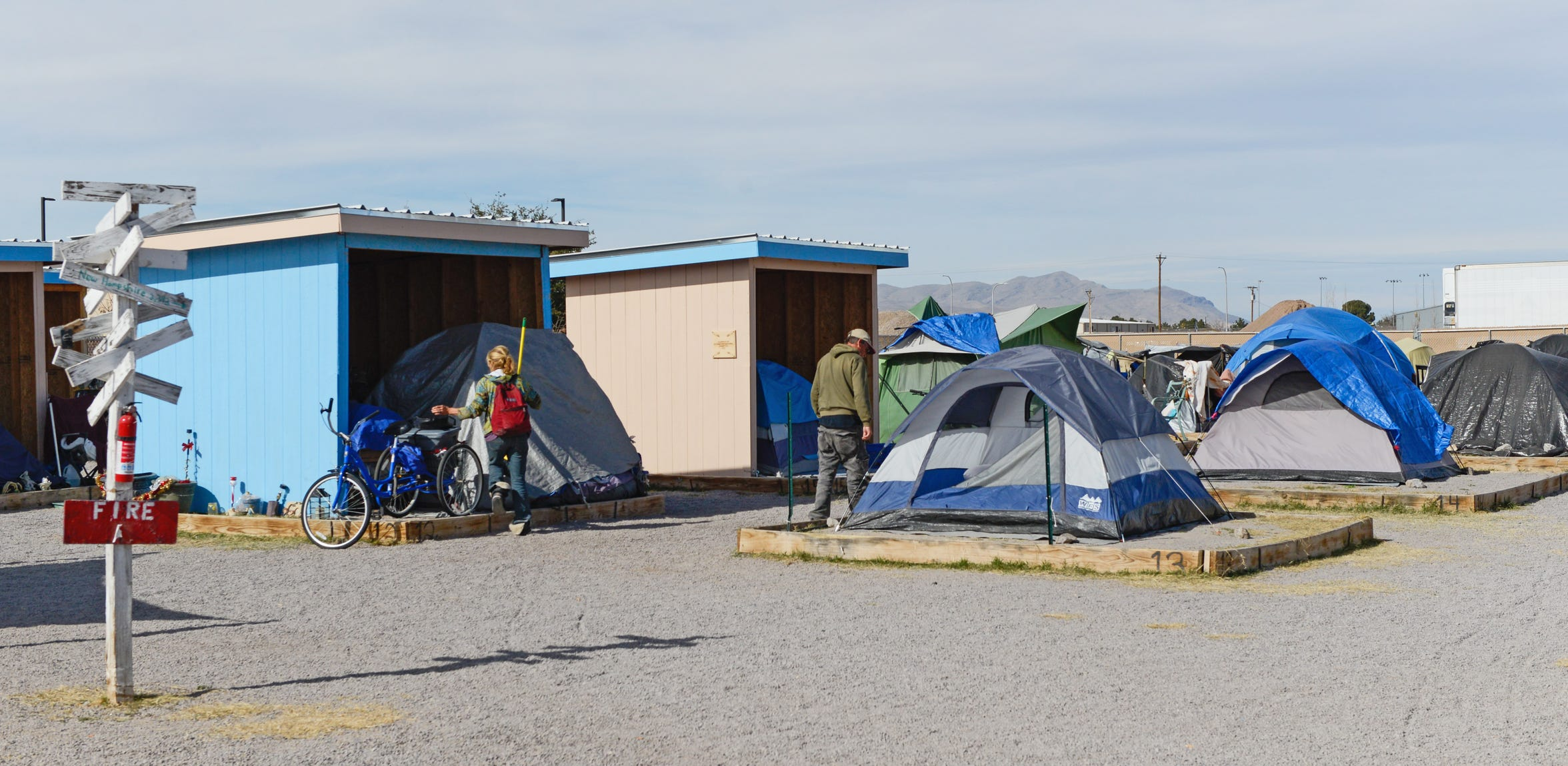 "Camp Hope, a government-sanctioned tent city for the homeless at Las Cruces' Community of Hope, has been called a ""model"" program by a national homelessness group."