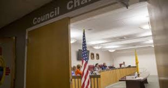 The Bloomfield City Council is pictured in April.