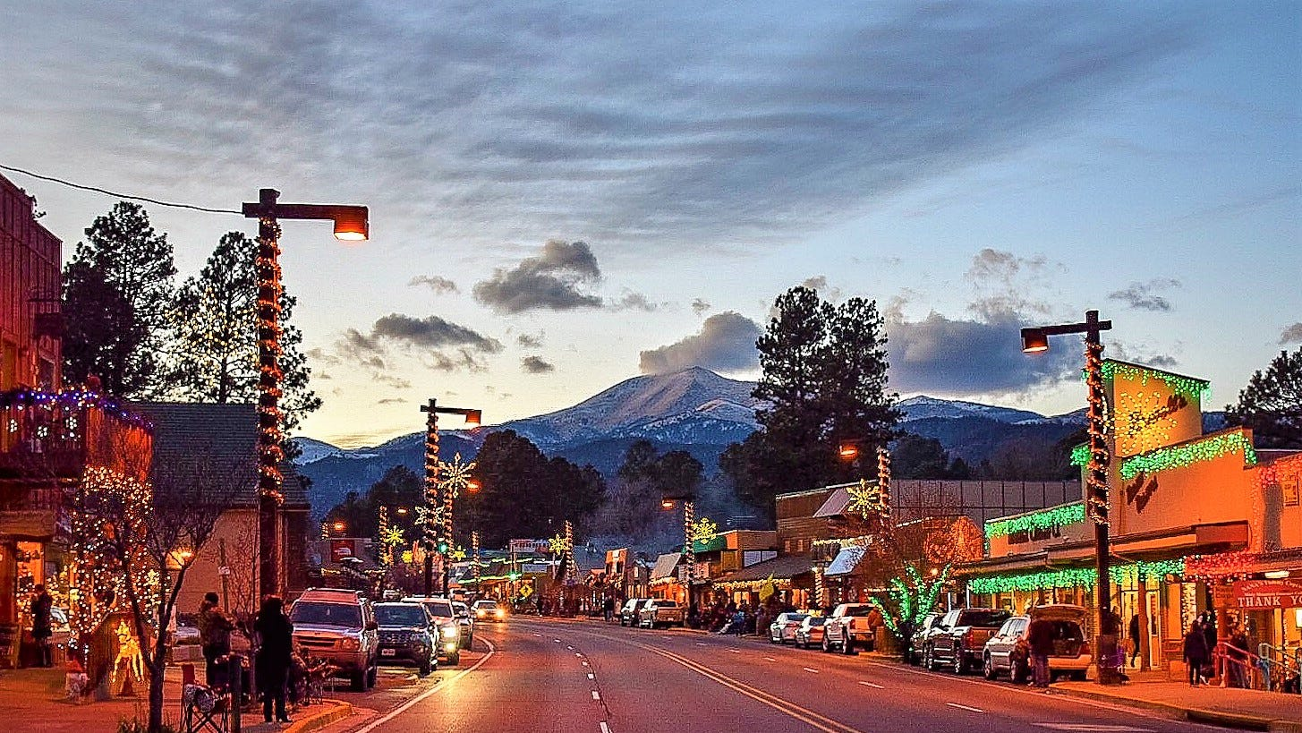Midtown Ruidoso already was full of lights before the parade began.