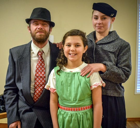 """The family cast members in """"It's a Wonderful Life; A Live Radio Play."""""""