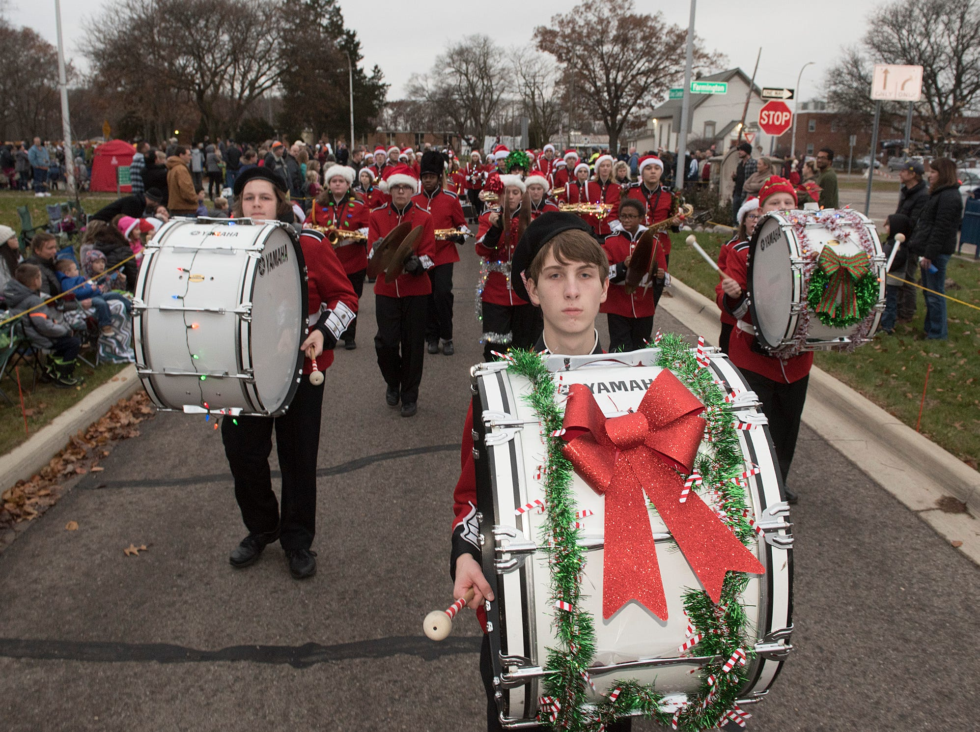 Livonia Churchill Marching Band.