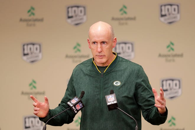 Green Bay Packers interim head coach Joe Philbin speaks at a press conference at Lambeau Field on Monday, December 3, 2018 in Green Bay, Wis.