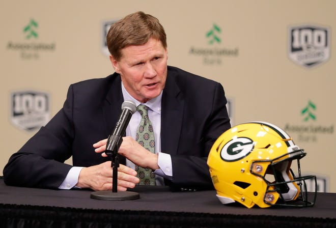 Green Bay Packers President and Chief Executive Officer Mark Murphy speaks at a press conference at Lambeau Field on Monday, December 3, 2018 in Green Bay, Wis.Adam Wesley/USA TODAY NETWORK-Wisconsin