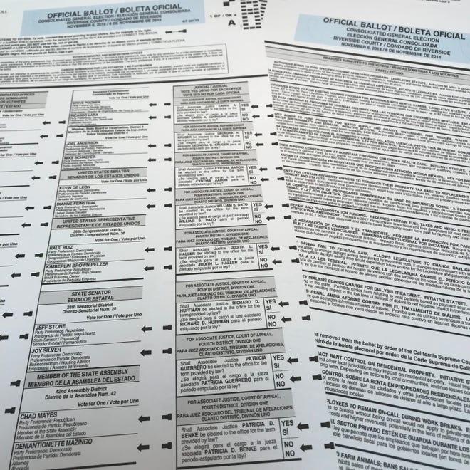 The official November ballot.