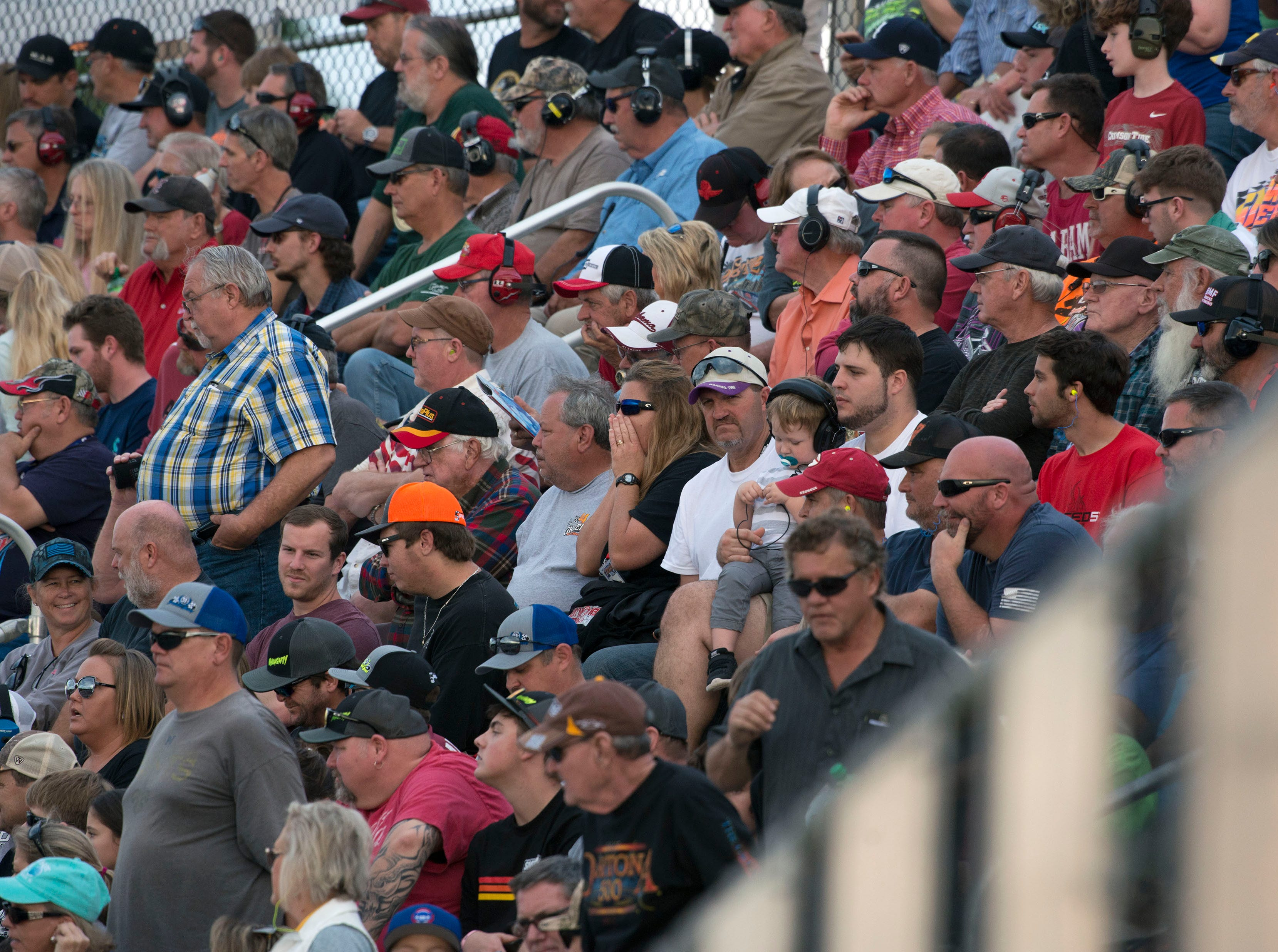 The crowd checks out the action Sunday, December 2, 2018 during the 51st annual Snowball Derby at Five Flags Speedway.