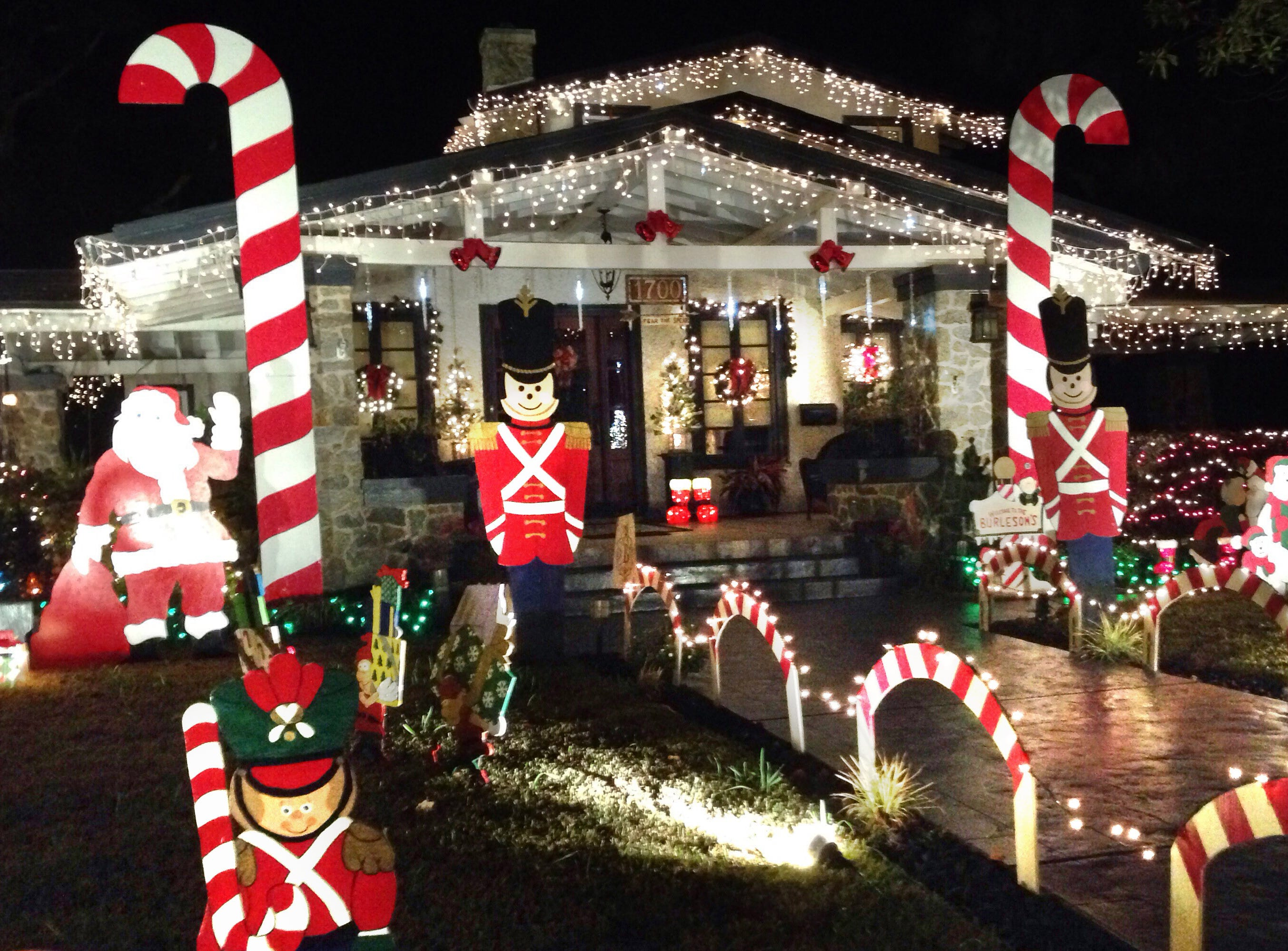 An elaborate Christmas display at Mike Burleson's home at 17th Avenue and Gadsden Street in East Hill is pictured in December 2014. After 25 years, Burleson says he will no longer put up the popular display.