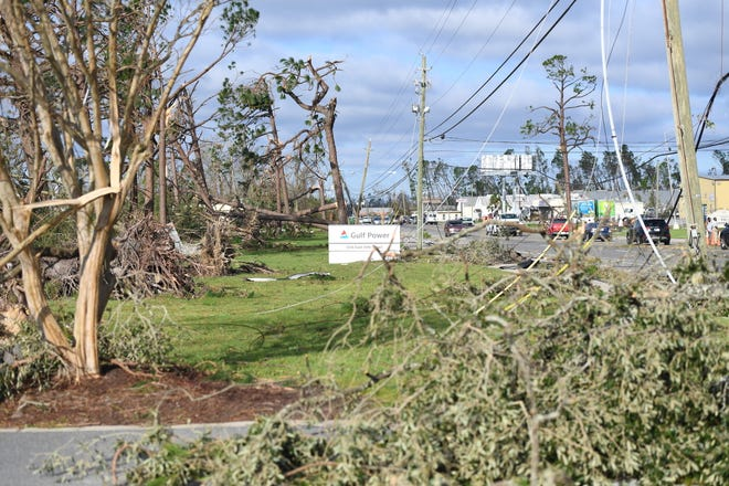 Gulf Power's Panama City Office was damaged by Hurricane Michael and nearly all of the employees working in the eastern portion of the utility's service area were impacted.