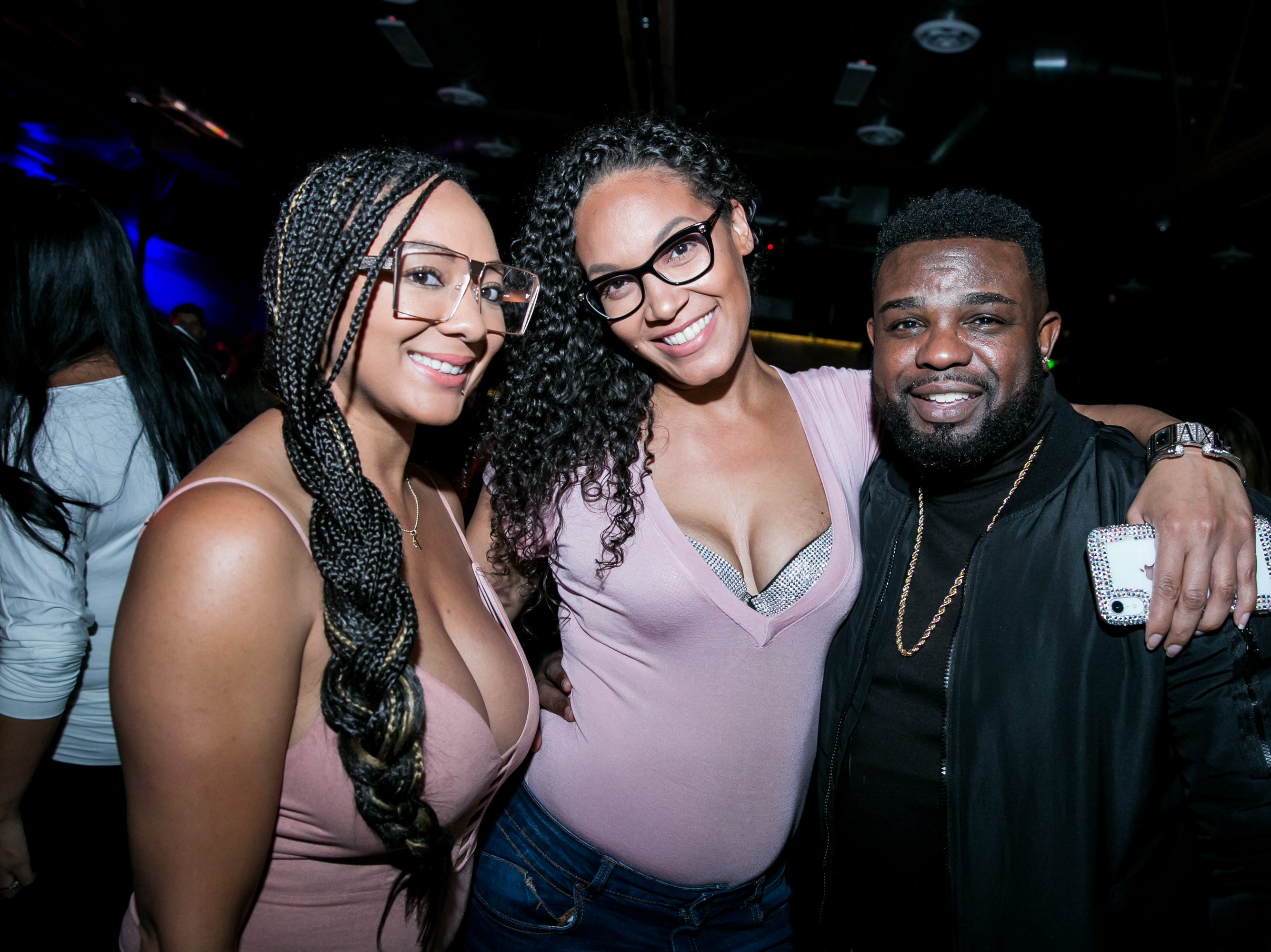 This trio had a lot of fun during Old School - 90's Hip Hop Dance Party at The Van Buren on Friday, November 30, 2018.