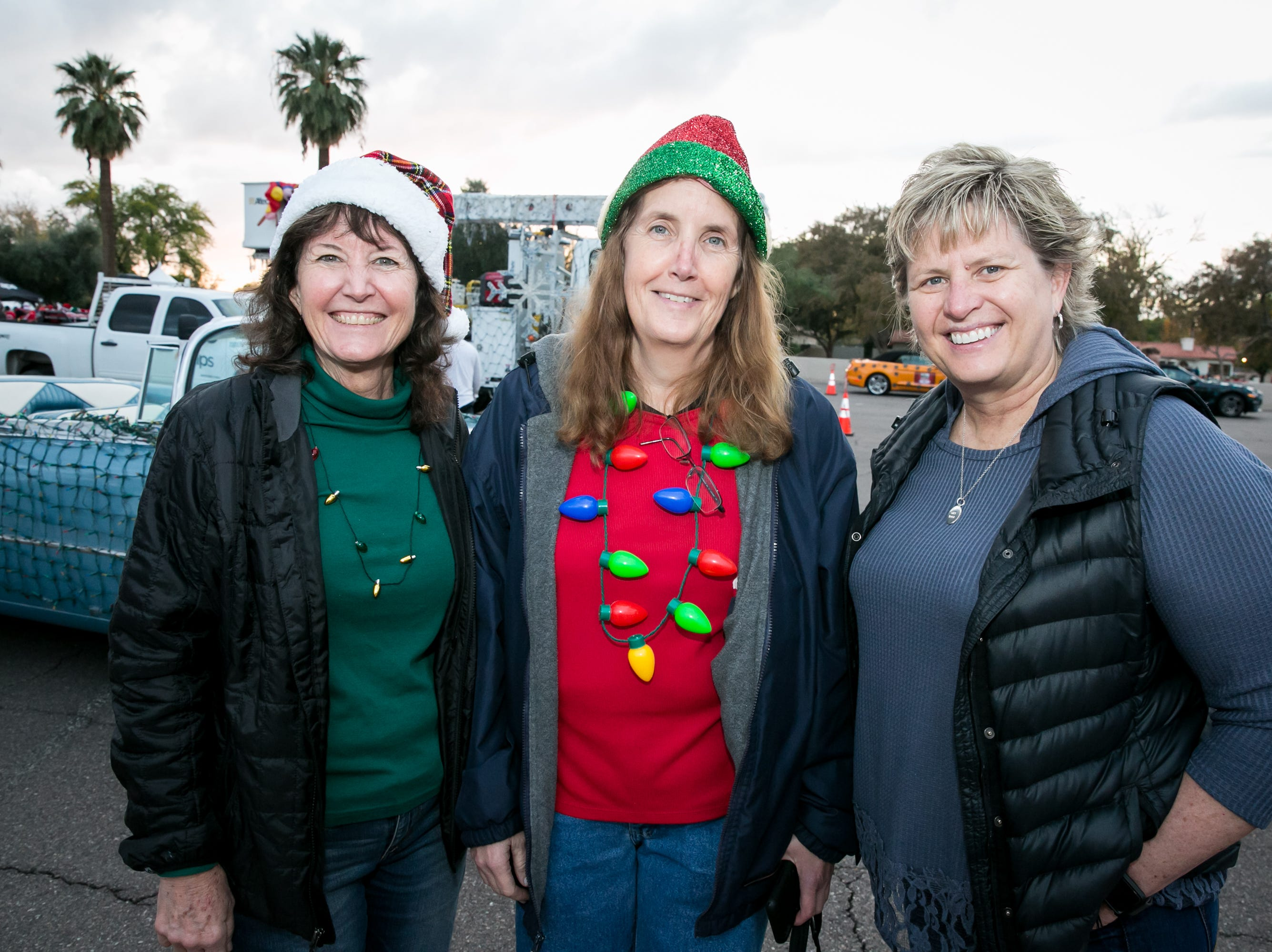 This trio went all out during the APS Electric Light Parade in Central Phoenix on Saturday, December 1, 2018.