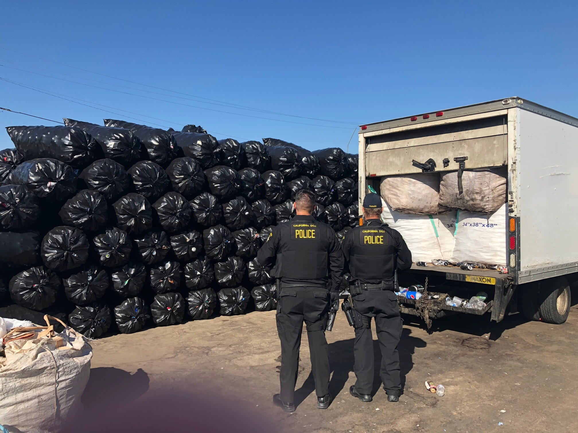 Multiple state agencies were involved in the recycling bust, which led to the arrest of two Arizona men.