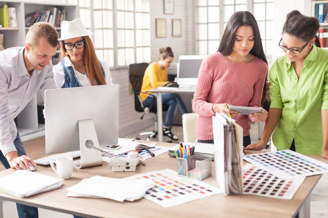 Internships in graphic design, customer service and other industries help students gain confidence as well as experience before they enter the job market.
