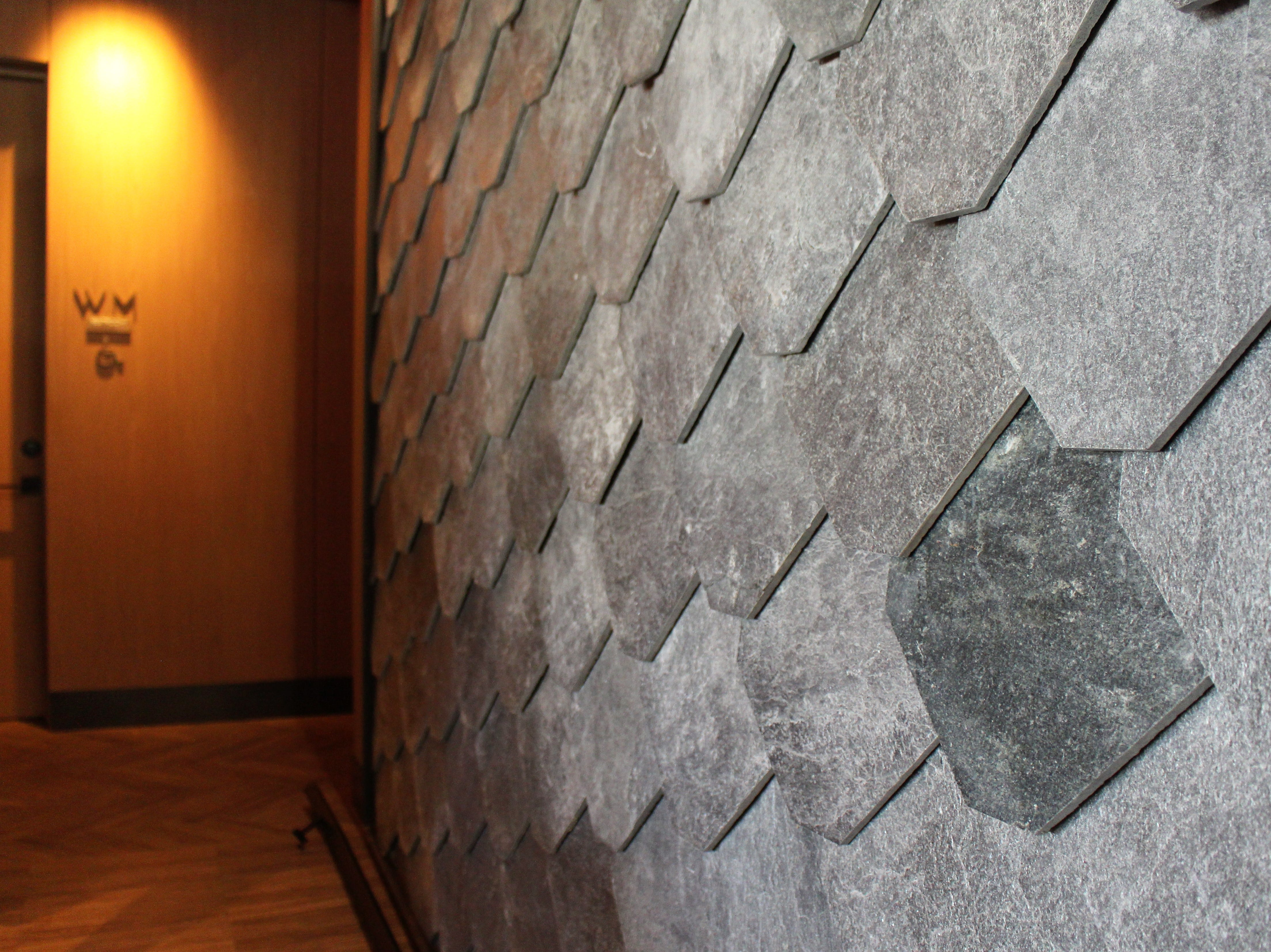 Tiles both inside and outside Ocean 44 in Scottsdale look like large fish scales.