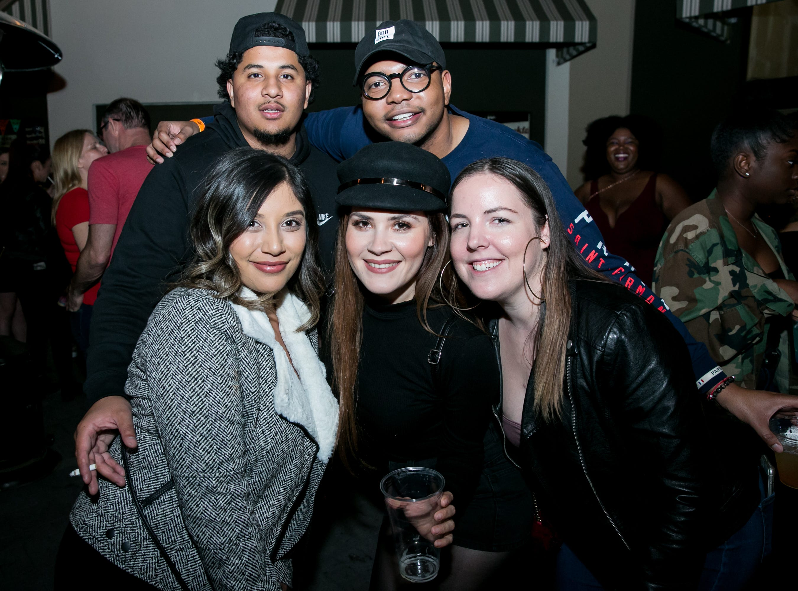 This group showed off some great hats during Old School - 90's Hip Hop Dance Party at The Van Buren on Friday, November 30, 2018.