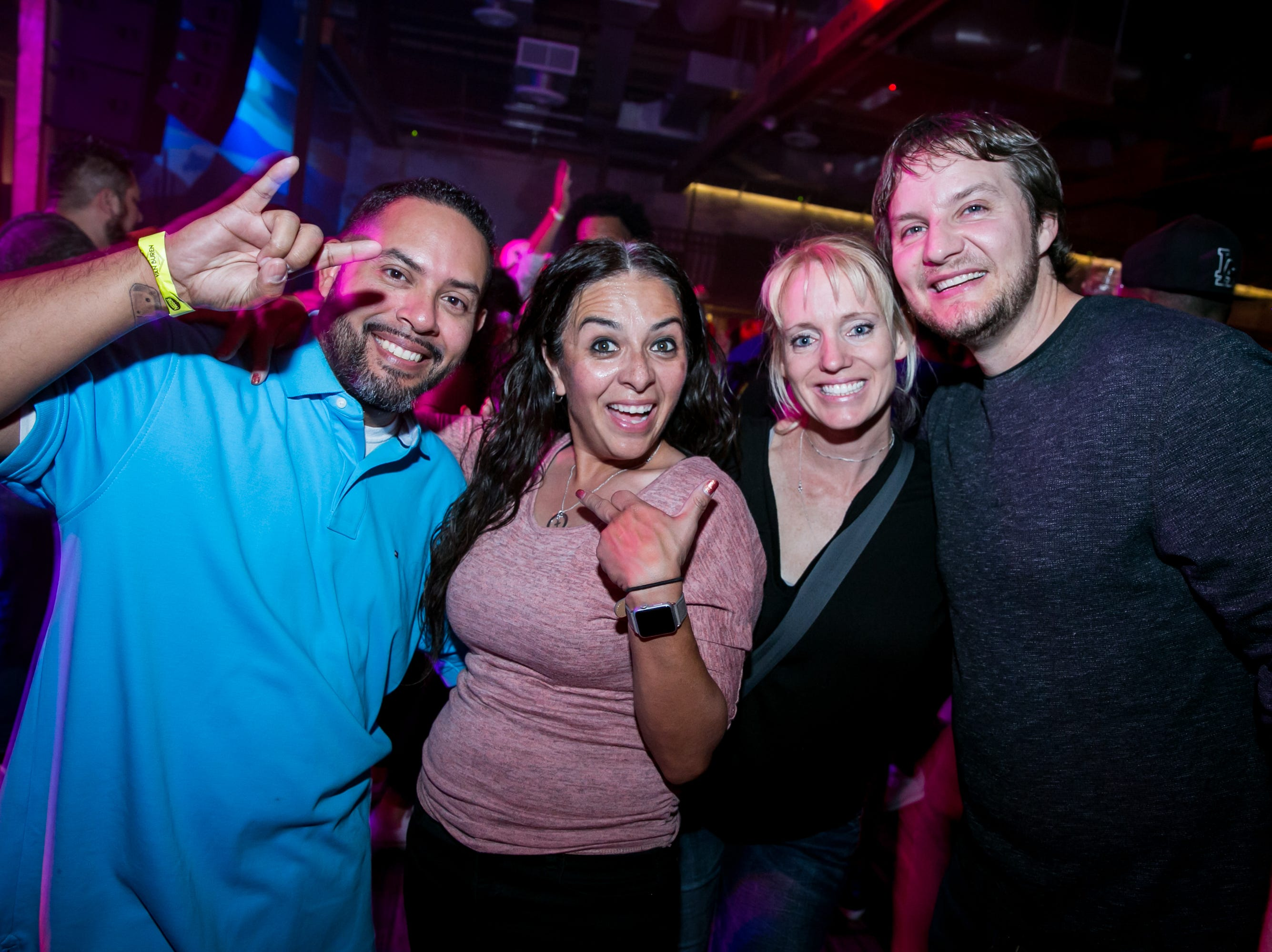 This group had a splendid time during Old School - 90's Hip Hop Dance Party at The Van Buren on Friday, November 30, 2018.