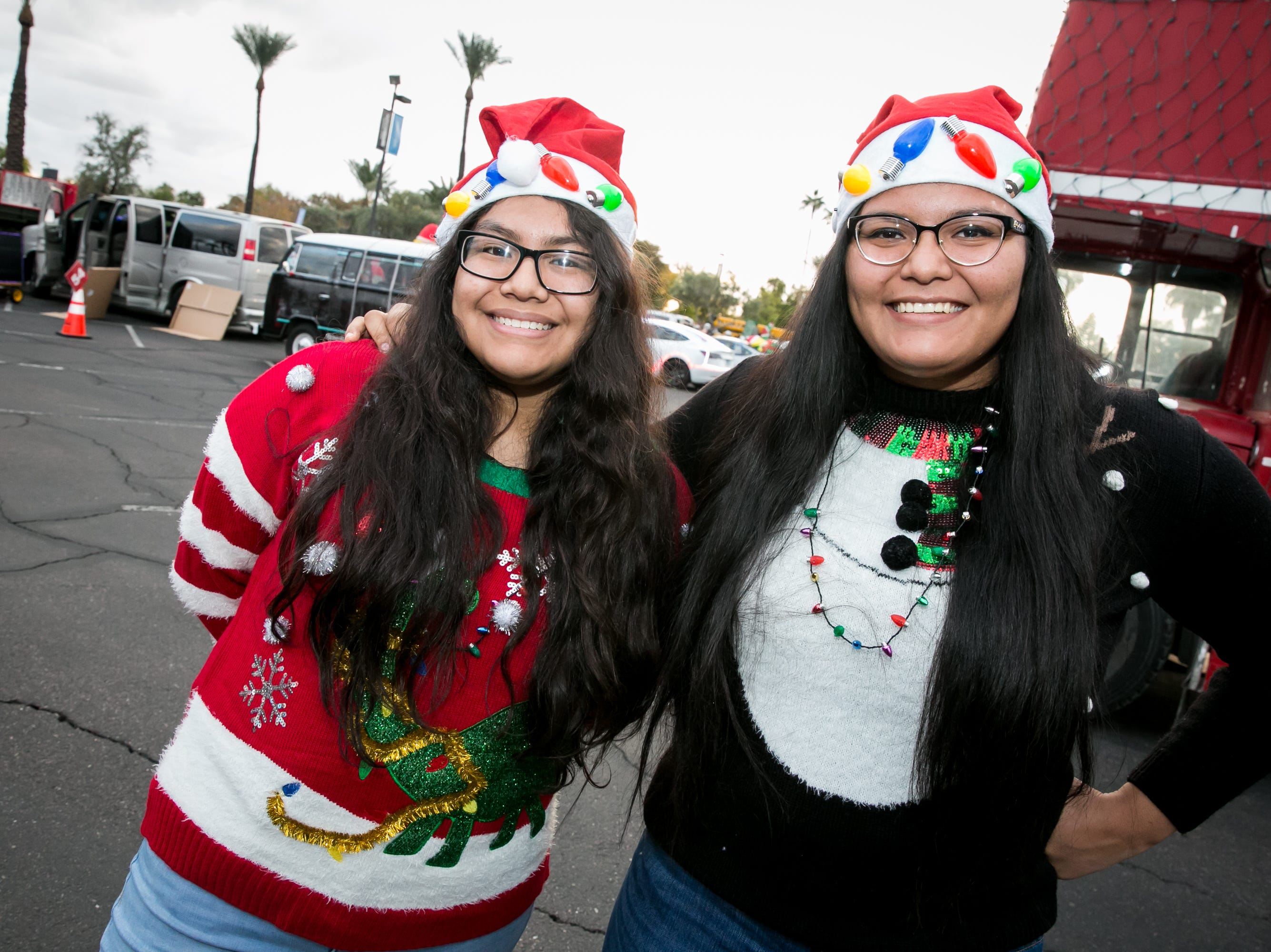 These ladies looked festive during the APS Electric Light Parade in Central Phoenix on Saturday, December 1, 2018.