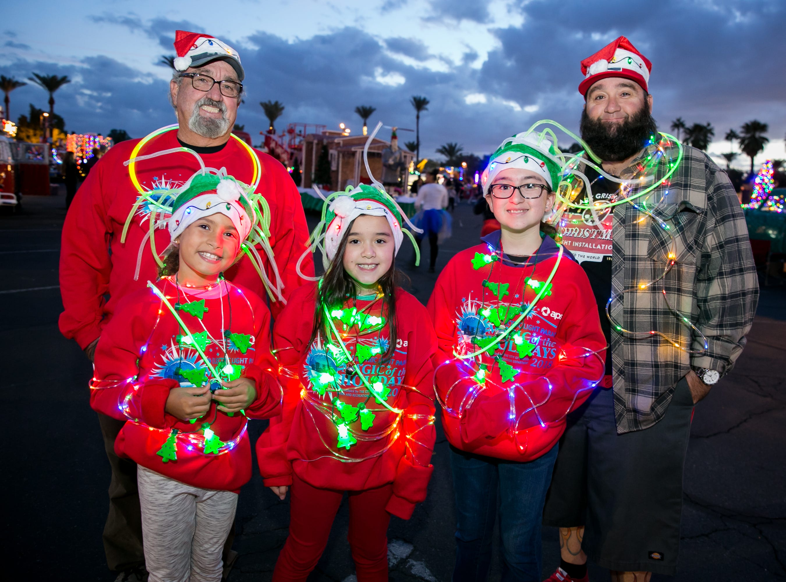 This group went all out during the APS Electric Light Parade in Central Phoenix on Saturday, December 1, 2018.