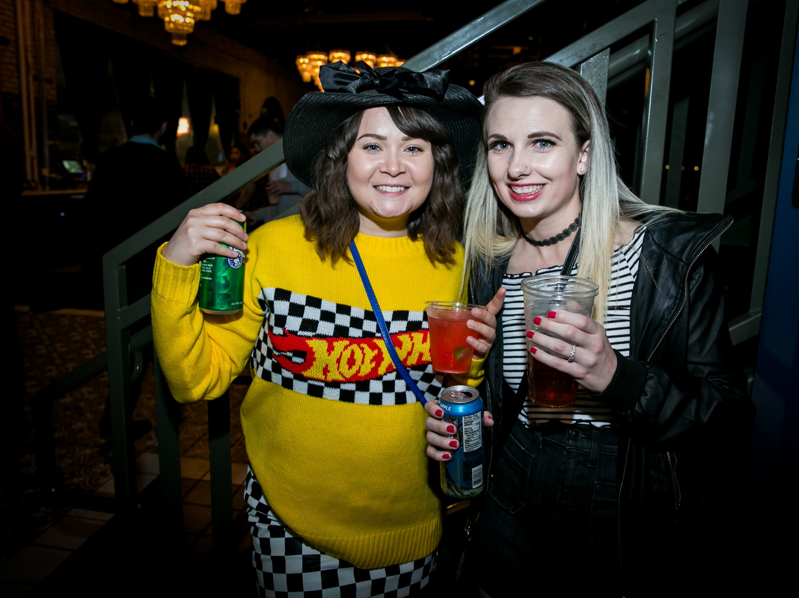 Her sweater paid homage to Hot Wheels during Old School - 90's Hip Hop Dance Party at The Van Buren on Friday, November 30, 2018.