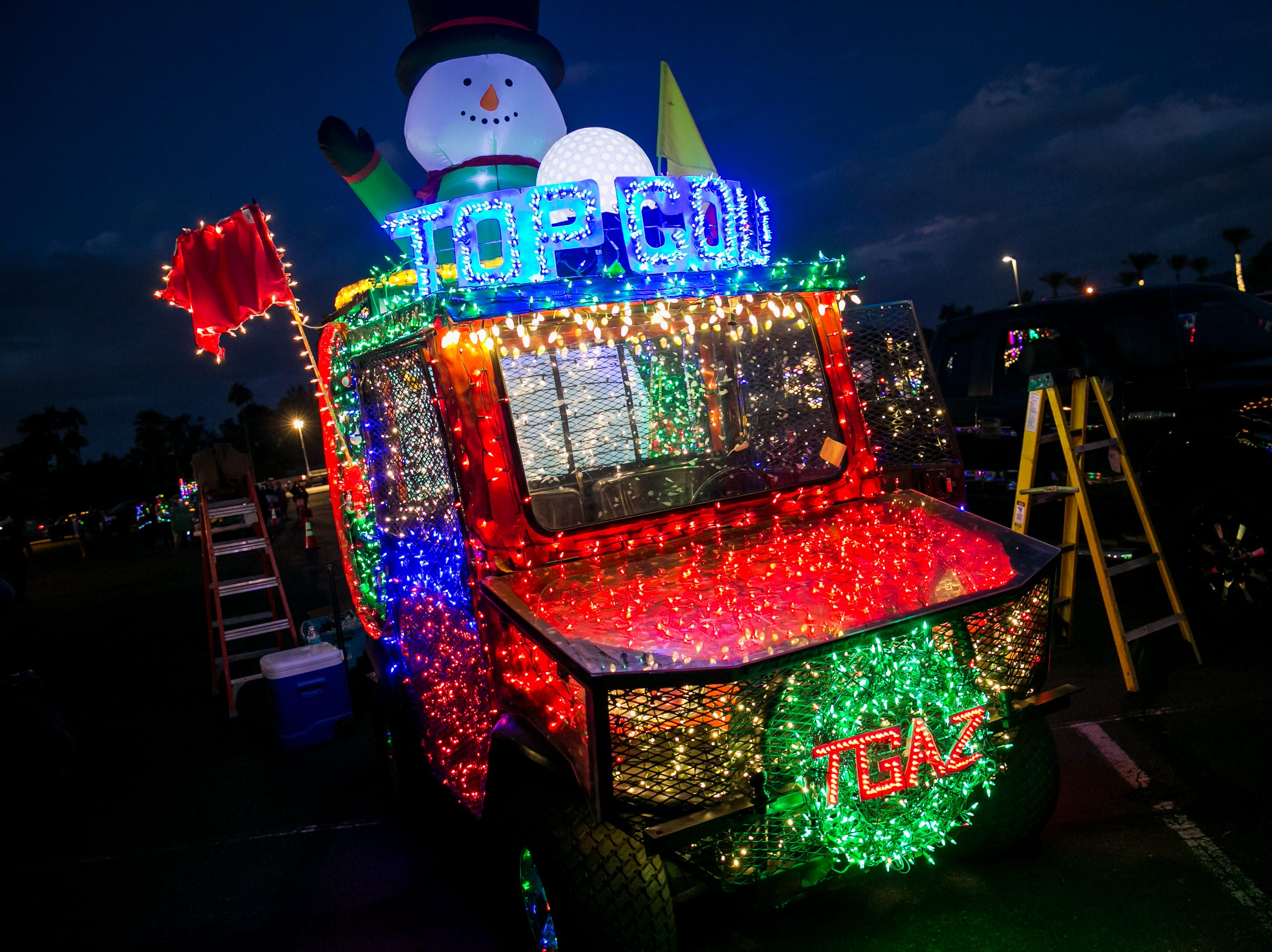 Top Golf's float looked amazing during the APS Electric Light Parade in Central Phoenix on Saturday, December 1, 2018.