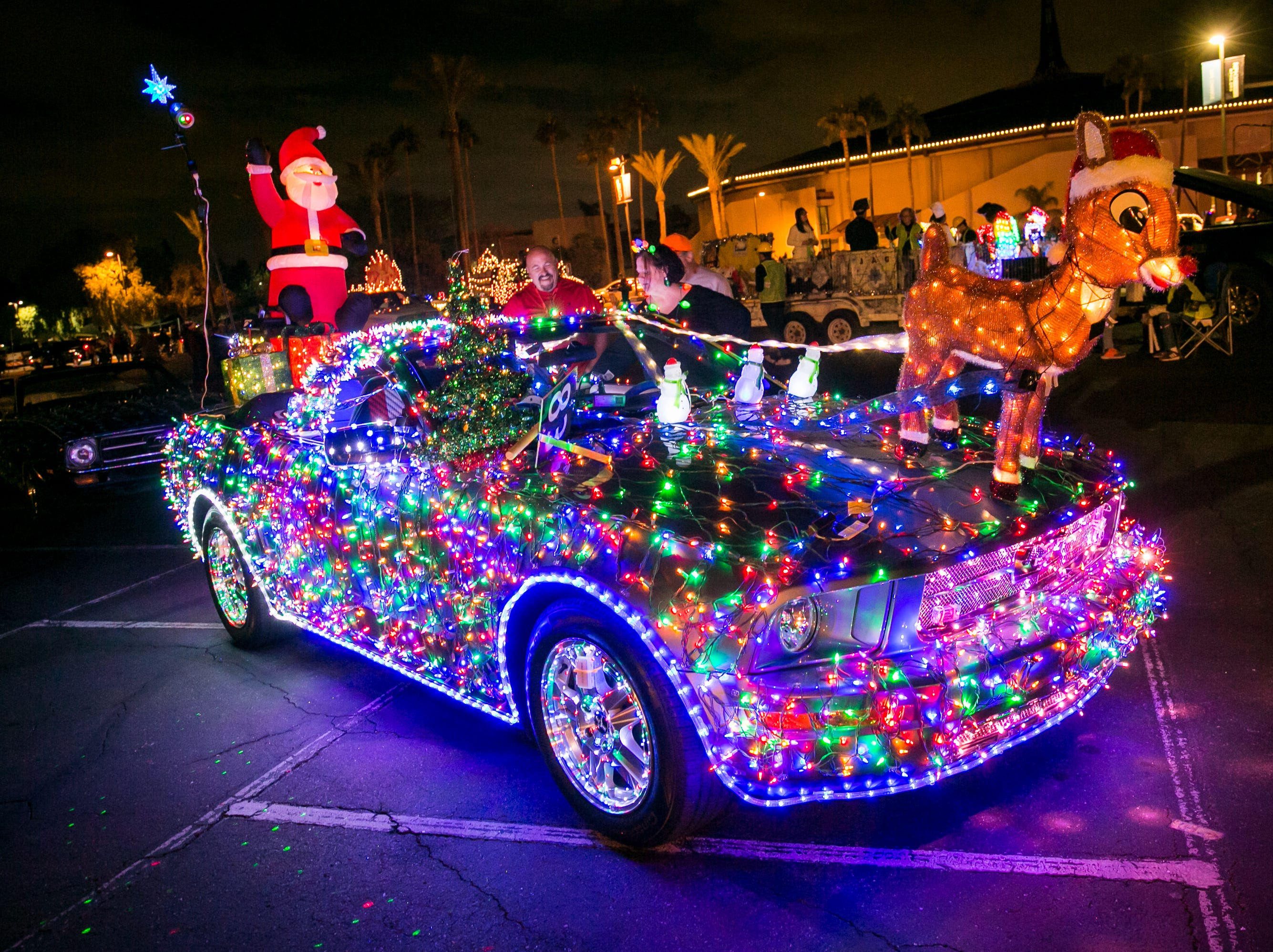 Santa's sleigh was upgraded for the APS Electric Light Parade in Central Phoenix on Saturday, December 1, 2018.