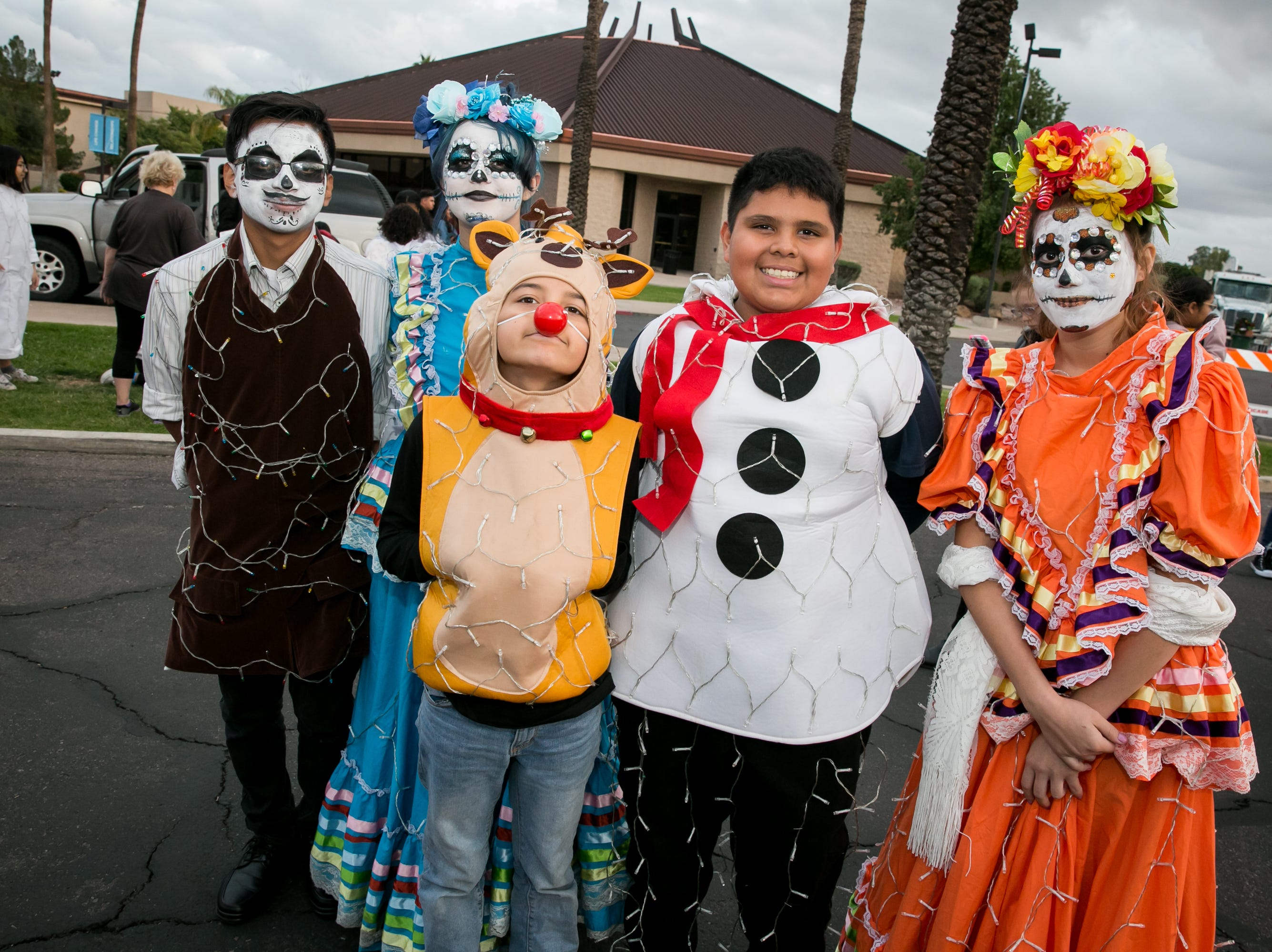 This group looked festive during the APS Electric Light Parade in Central Phoenix on Saturday, December 1, 2018.