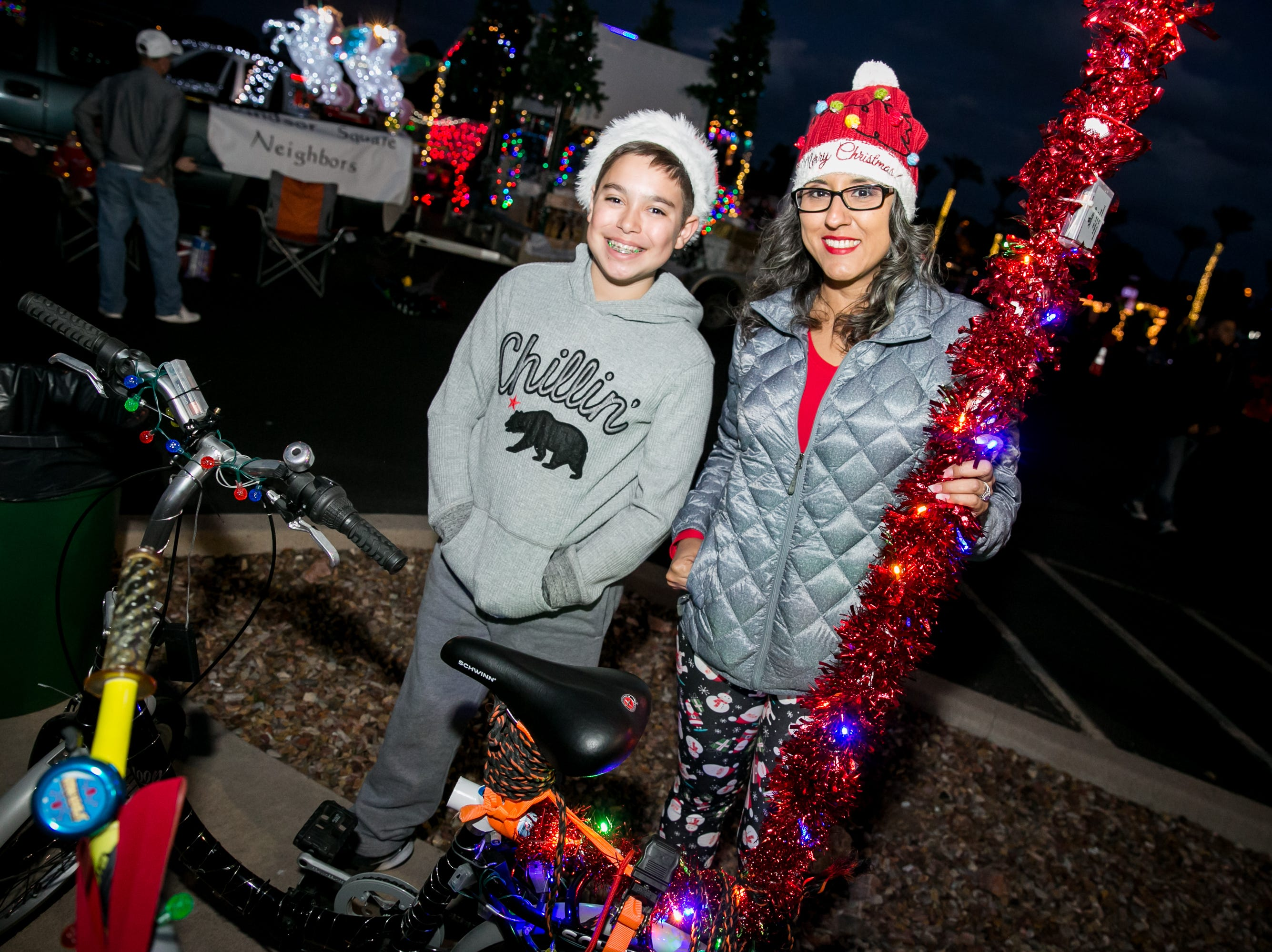These two were chillin' during the APS Electric Light Parade in Central Phoenix on Saturday, December 1, 2018.