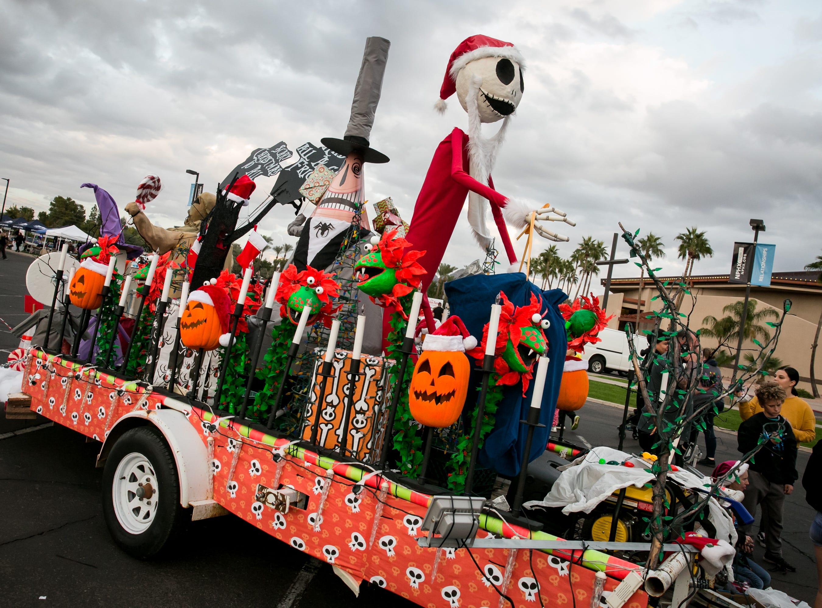 This awesome Nightmare Before Christmas float won the title of best community entry during the APS Electric Light Parade in Central Phoenix on Saturday, December 1, 2018.