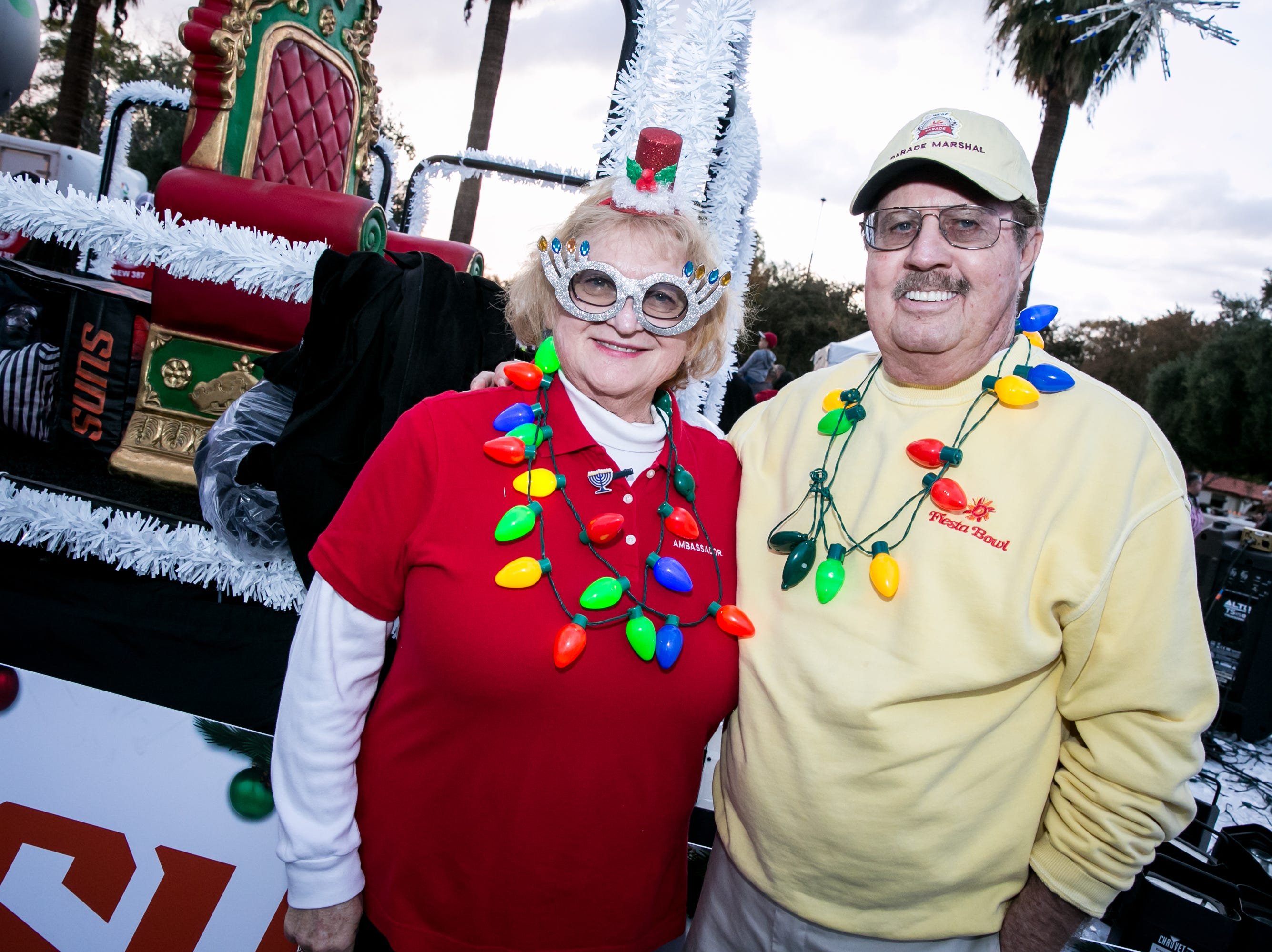 She had impeccable taste in Hanukkah glasses during the Electric Light Parade in Central Phoenix on Saturday, December 1, 2018.