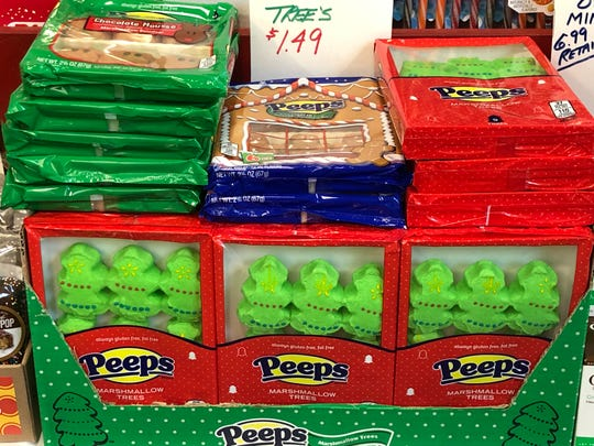 "Thought Peeps were only an Easter candy? Think again. ""We have the Christmas Peepers everyone loves,"" said Carey. ""Or hates."""