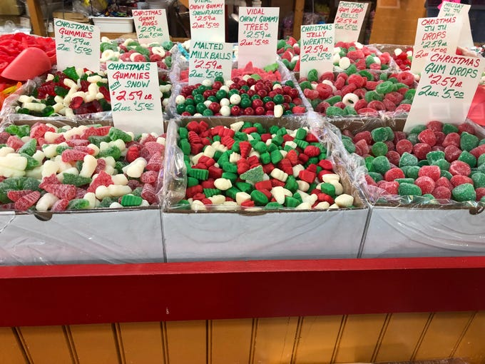 """Any number of Christmas gummies, mello cremes, jellies and jujus are hot sellers right now. """"All the colors adds to their candy jars,"""" said Carey. """"This is what people want over the Christmas holiday to make their homes festive. It's not just candy – it's decoration."""""""