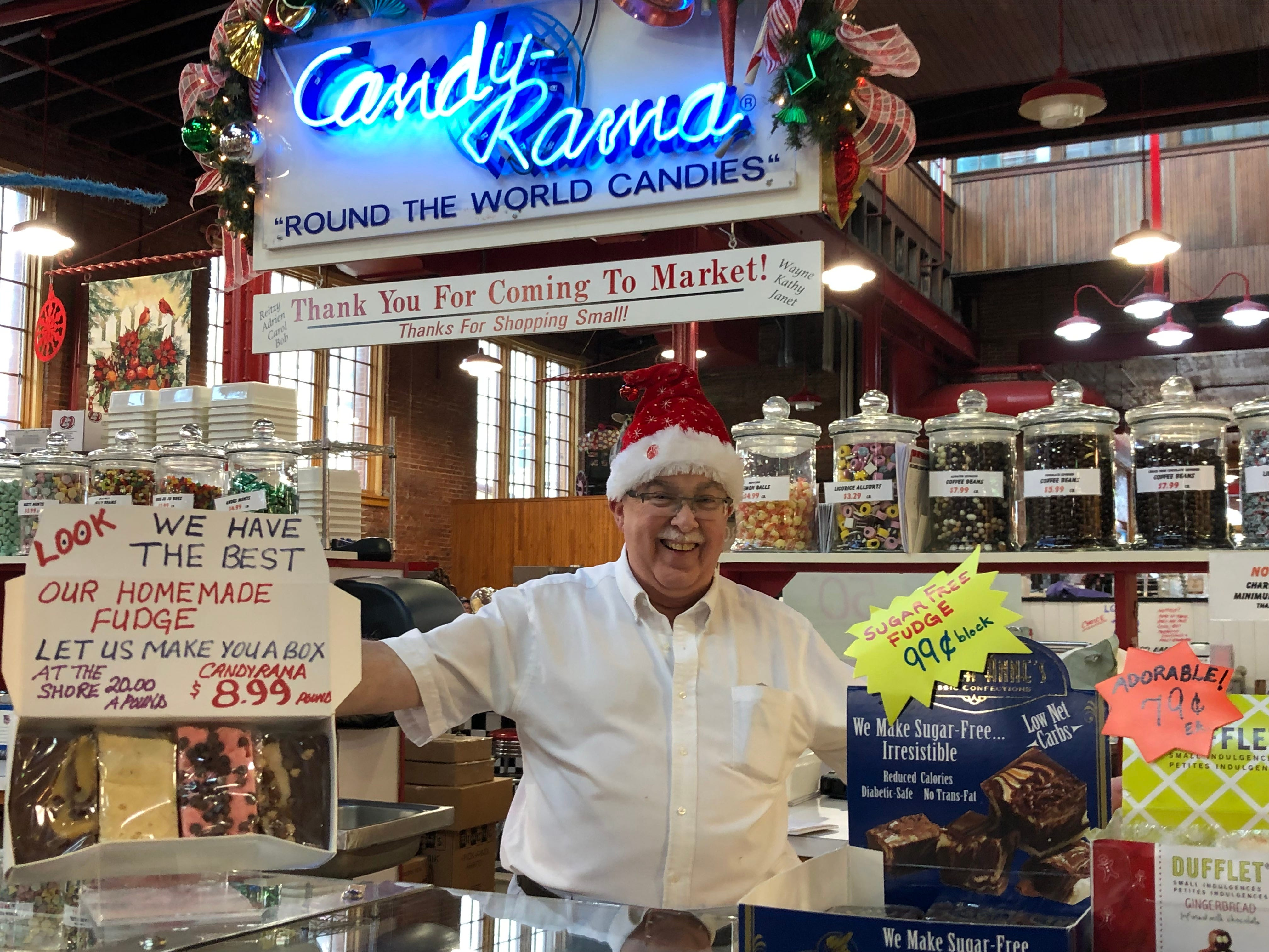 Wayne Carey, manager of Candy-Rama inside the Lebanon Farmers Market, guarantees there is a candy or chocolate for every age and every budget. Check out a huge selection of stocking stuffers and treats for your holidays gatherings.