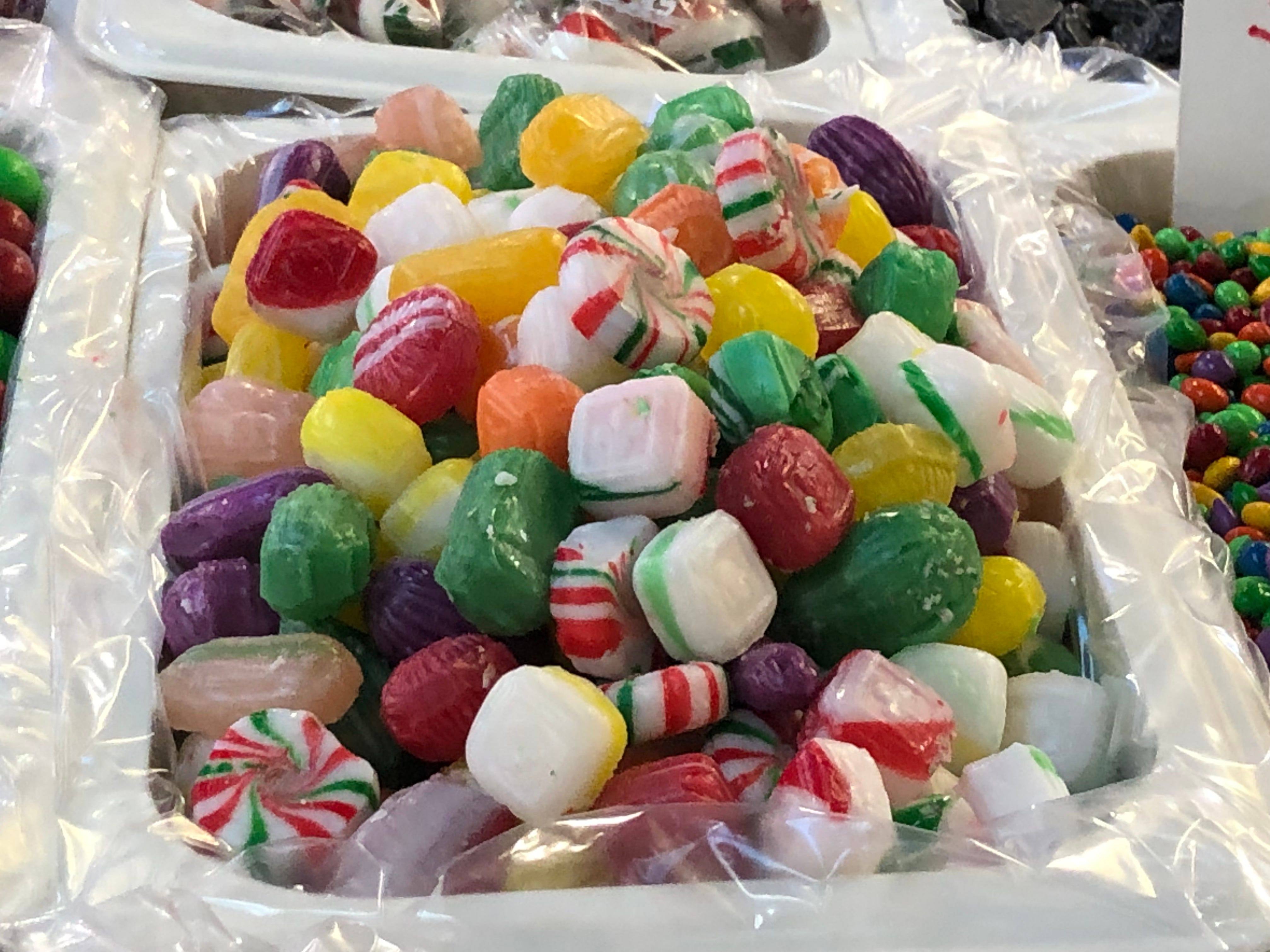 """""""If you go old, old school, remember these things from grandma's dish,"""" Carey asks. The hard candies are still a hit around this time."""