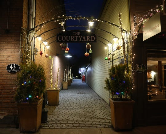 The Village of Rhinebeck is lit up for holiday shopping on November 29, 2018.