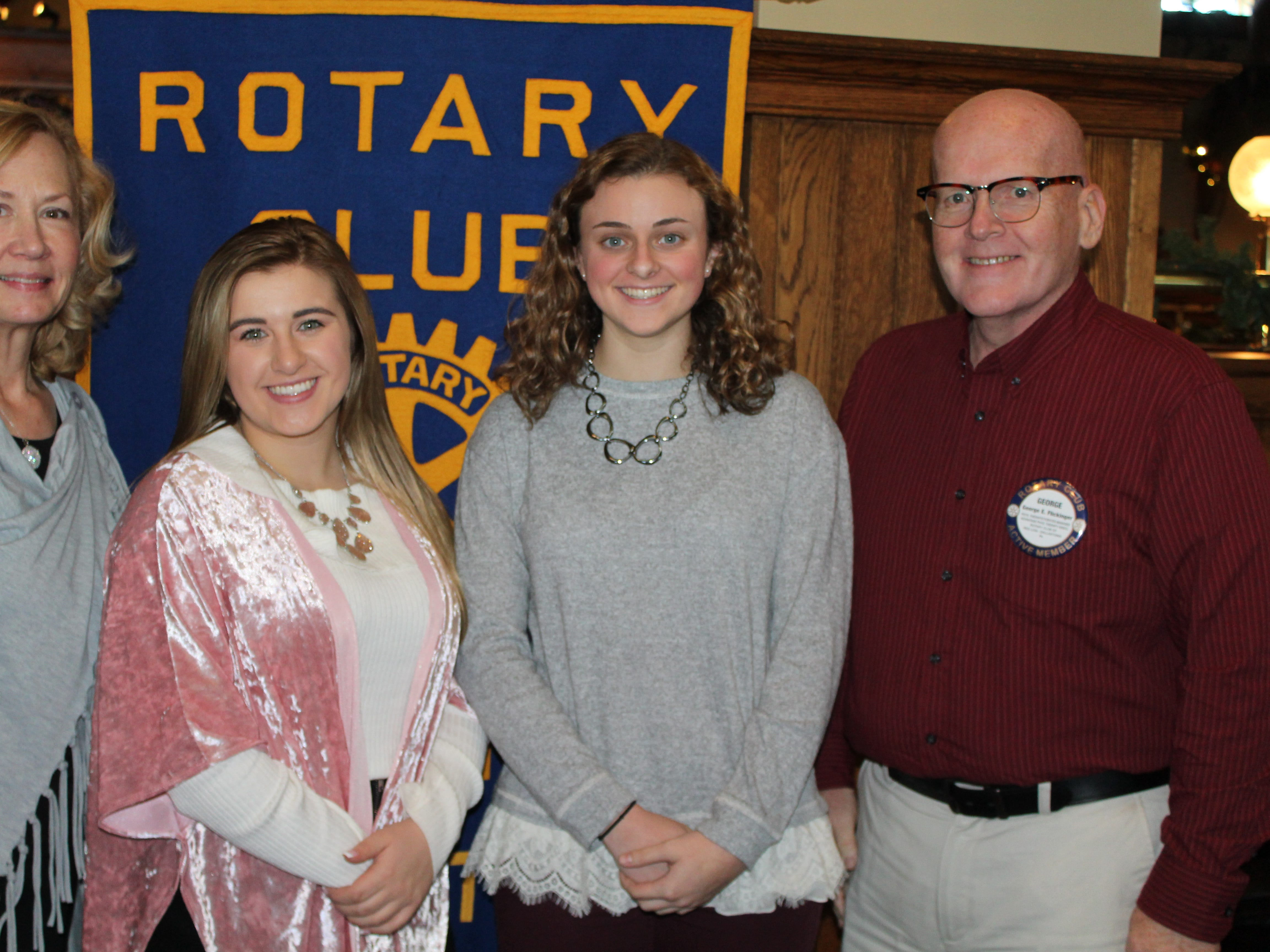 The Rotary Club of Red Lion - Dallastown is pleased to announce their November Students of the Month from Red Lion Area Senior High School. From left, Club member Del McChalicher, student Gianna Dovell, student Emma Hively, and Club member George Flickinger. submitted