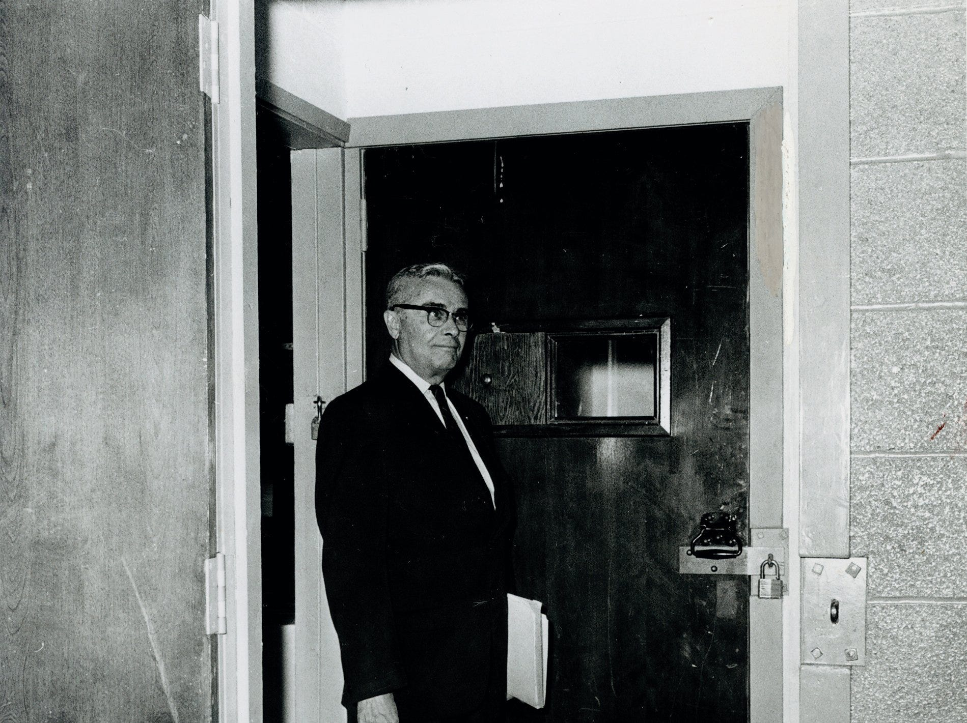"""""""The Hole"""" York County Prison 1963. photo courtesy of York County History Center"""