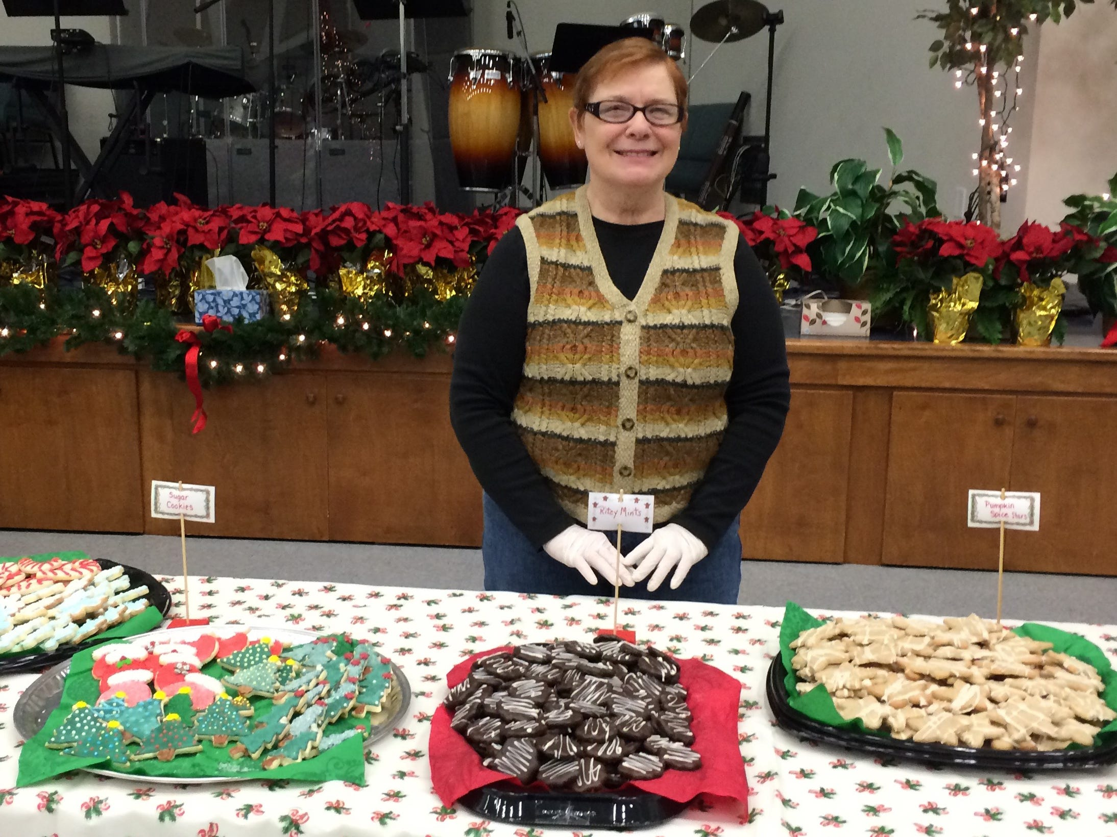Women of Grace, the United Methodist WomenÕs (UMW) group of Grace United Methodist Church, 473 Plank Road, New Freedom, will hold its annual Cookie Walk at the church, Saturday, December 15 from 9:00 a.m. until supplies are exhausted. Bev Bagnall prepares to serve cookies to crowds lined up at a previous yearÕs Cookie Walk. submitted