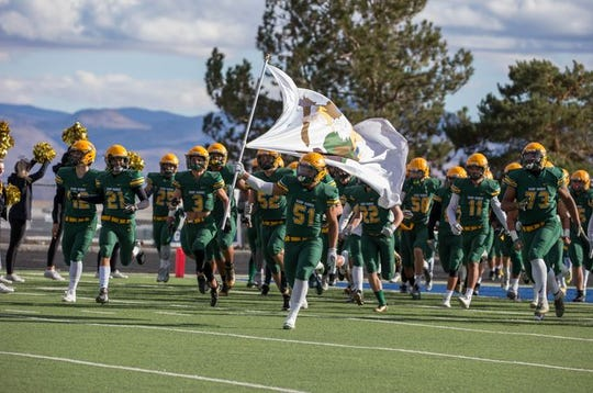 Bishop Manogue takes the field on Nov. 24
