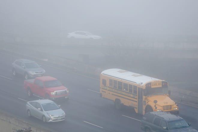 Fog blankets downtown Salem on Monday, Dec. 3, 2018.