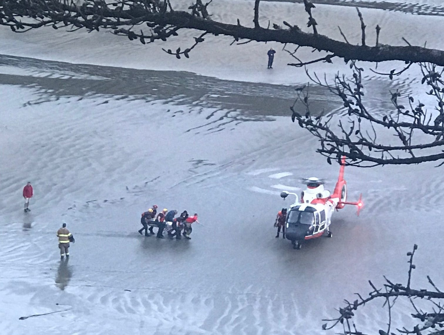 Unconscious Surfer Rescued By Coast Guard Near Newport Oregon