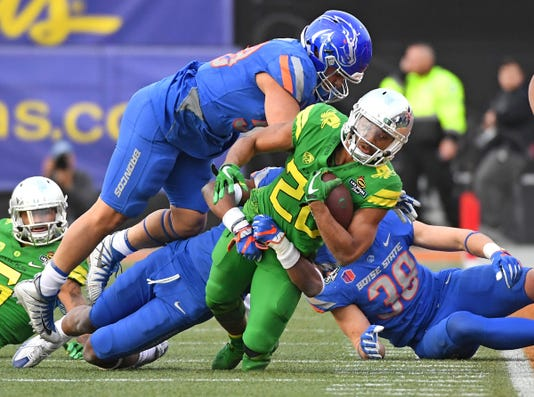 Ncaa Football Las Vegas Bowl Boise State Vs Oregon