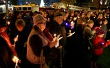 The Chabad Center for Jewish Life hosted a celebration on the first day of Hanukkah at Mirror Park in downtown Salem on Sunday, Dec. 2.