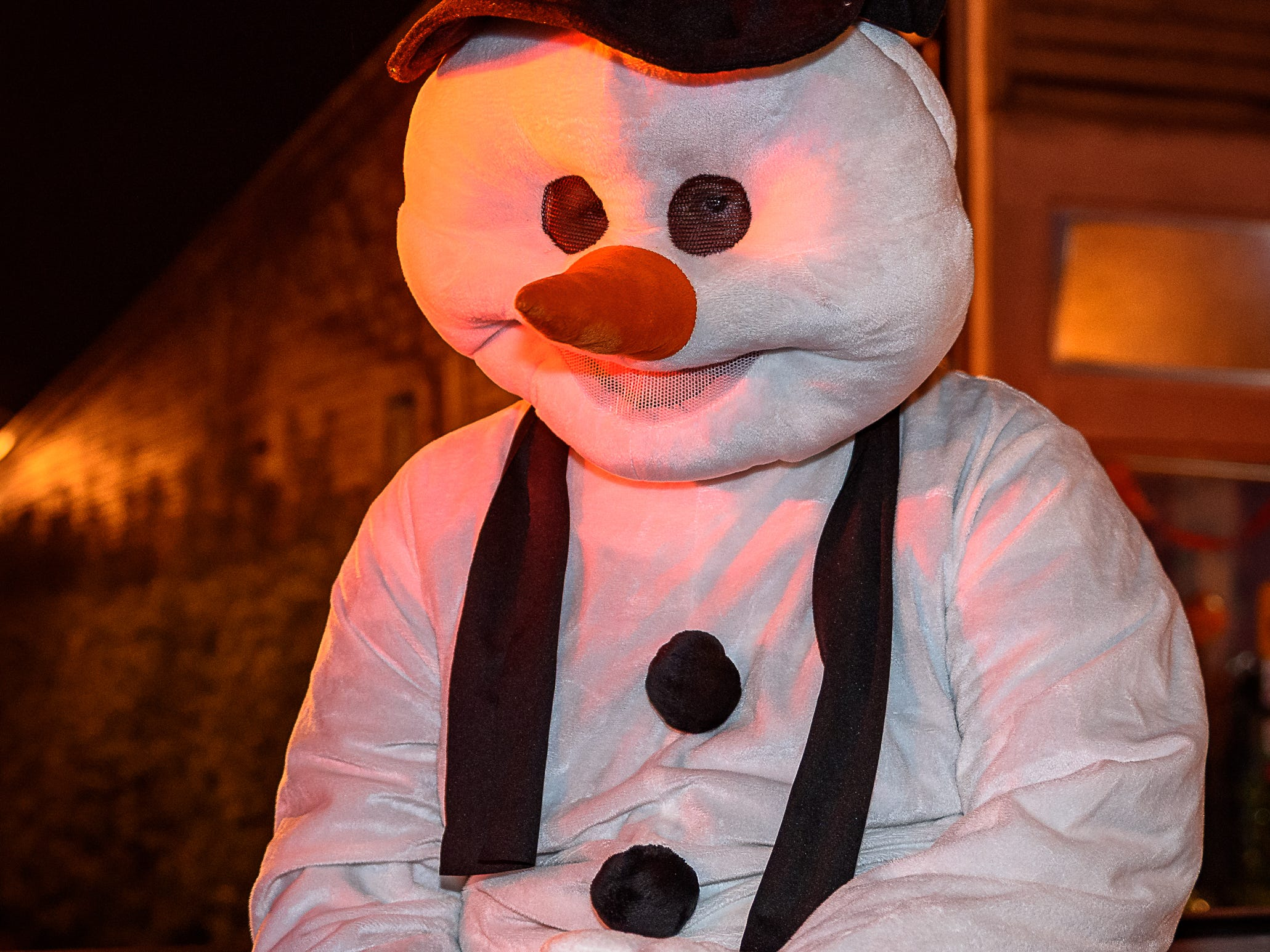 Bloxom Volunteer Fire Department brought its own snowman to the Chincoteague Christmas parade.