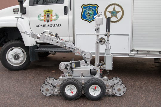 The Sioux Falls Police Department is asking for the public's help in naming it's new bomb robot through social media polls. The names are Trax, Boomer and Agent 605.