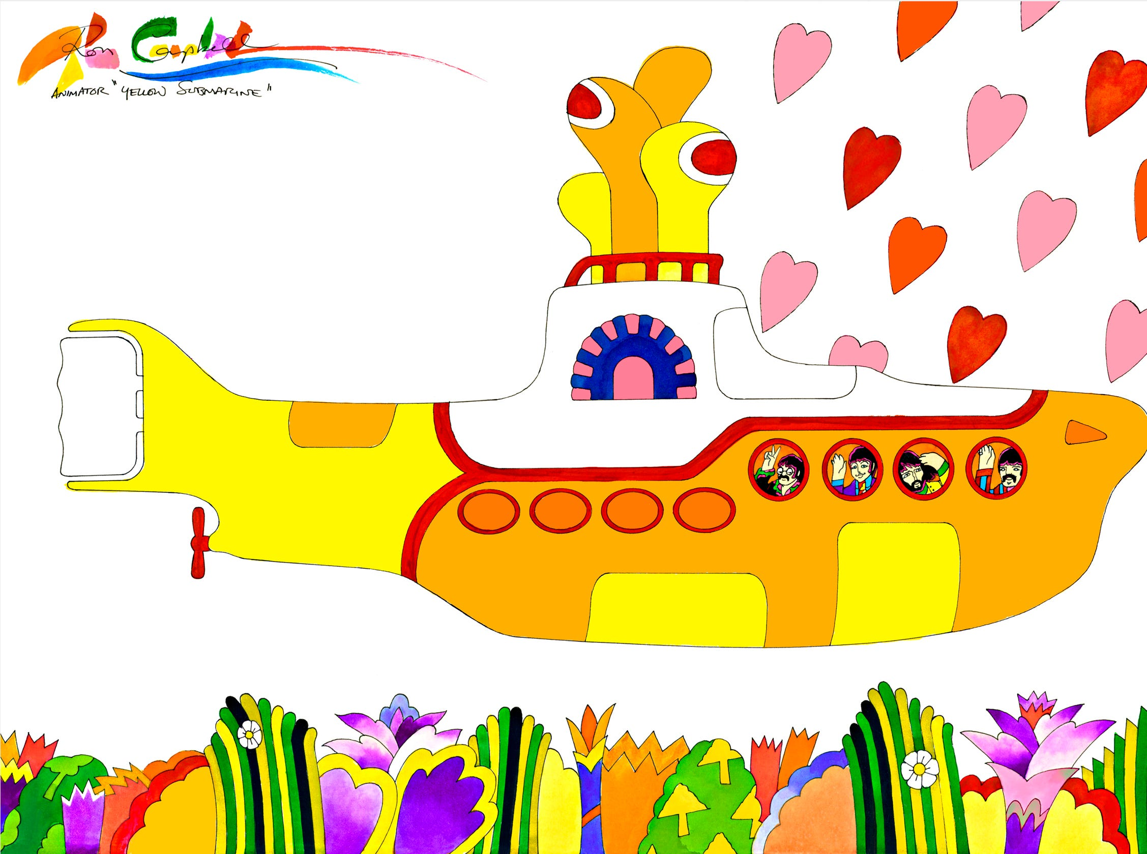 Ron Campbell helped draw 'Yellow Submarine' and 'Rugrats.' Now he's visiting Springfield.
