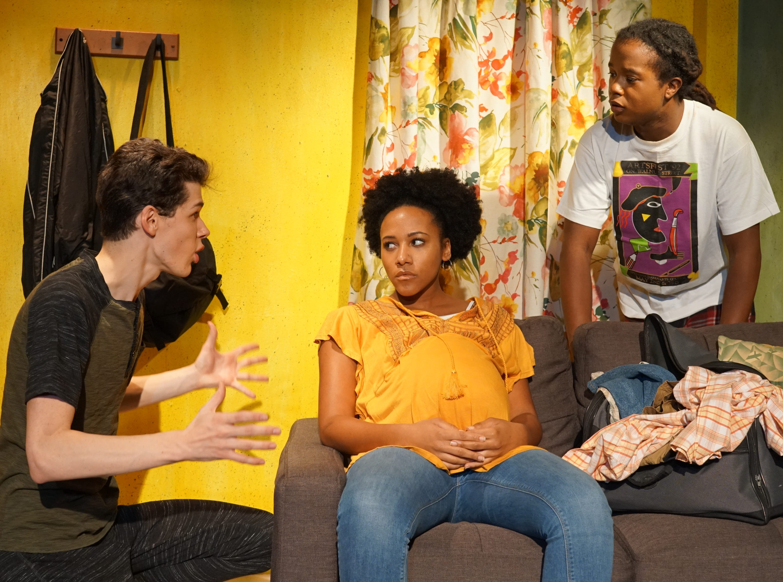 "Roland Netzer, Christina Gardner and Lavelle Johnston in ""The Legend of Georgia McBride"" at Springfield Contemporary Theatre."