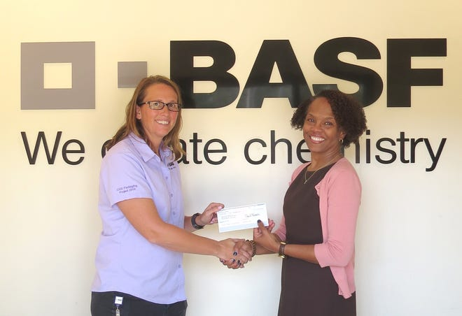 BASF presented United Way of the Big Bend a check in the amount of $50,000.