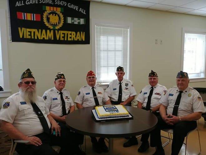 Big Bend Honor Guard participants include John Folson, Jim Guein, Jim Sigman, Chuck Howell, John Froude and Lee Mortimer.