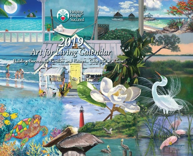 "It's that time of year when Helping People Succeed distributes its popular ""Art for Living"" calendars, available at local business outlets in Martin and St. Lucie counties."
