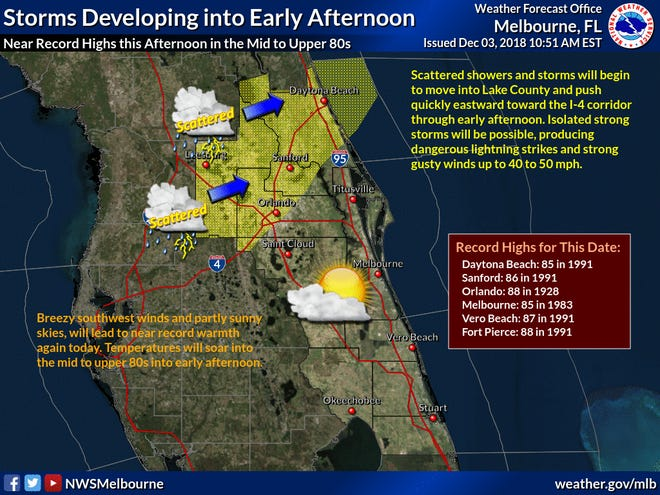 Record highs across Central Florida.