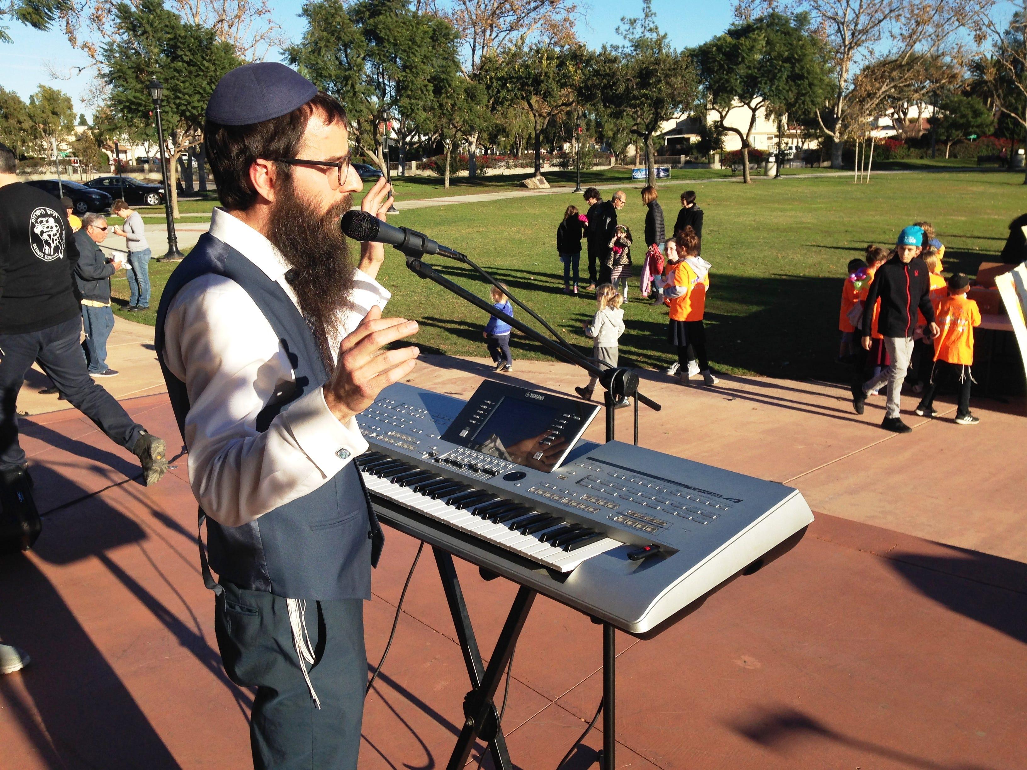 Rabbi Yosef Muchnik performs Sunday at Chabad of Camarillo's 16th annual Hanukkah Festival and Grand Menorah Lighting in Constitution Park in Camarillo.